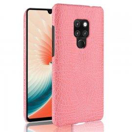 Carcasa Huawei Mate 20 Cuero Estilo Croco Rosa