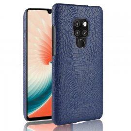 Carcasa Huawei Mate 20 Cuero Estilo Croco Azul
