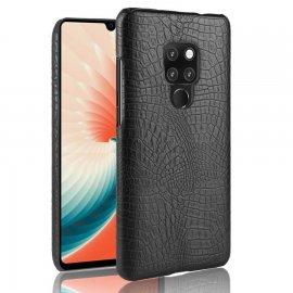 Carcasa Huawei Mate 20 Cuero Estilo Croco Negra