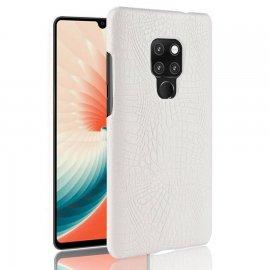 Carcasa Huawei Mate 20 Cuero Estilo Croco Blanca