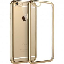Funda Flexible Iphone 6 Gel con bordes Cromados Oro