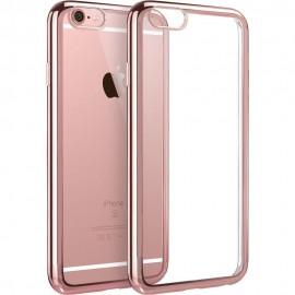 Funda Flexible Iphone 6 Gel con bordes Cromados Rosa