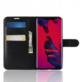 Funda cuero Flip Huawei Mate 20 Pro Negra