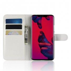 Funda cuero Flip Huawei Mate 20 Pro Blanca