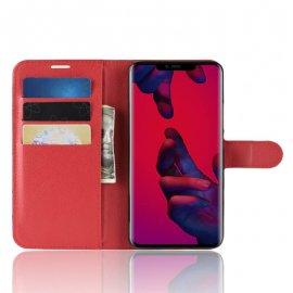 Funda cuero Flip Huawei Mate 20 Pro Roja