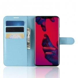 Funda cuero Flip Huawei Mate 20 Pro Azul