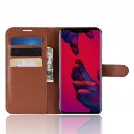 Funda cuero Flip Huawei Mate 20 Pro Marron