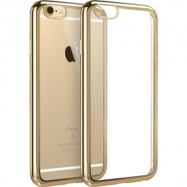 Funda Flexible Iphone 6 Plus Gel con bordes Cromados Rosa