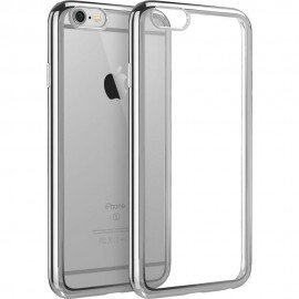 Funda Flexible Iphone 6S Plus Gel con bordes Cromados
