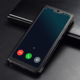 Funda Libro Xiaomi MI 8 Lite con Tapa y Soporte Completa Negra