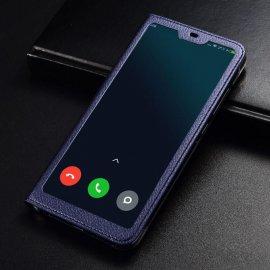 Funda Libro Xiaomi MI 8 Lite con Tapa y Soporte Completa Azul