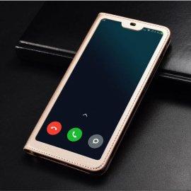 Funda Libro Xiaomi MI 8 Lite con Tapa y Soporte Completa Dorada
