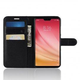 Funda Libro Xiaomi MI 8 Lite Soporte Negra
