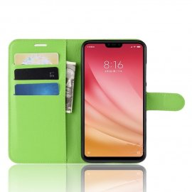 Funda Libro Xiaomi MI 8 Lite Soporte Verde