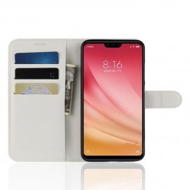 Funda Libro Xiaomi MI 8 Lite Soporte Blanco