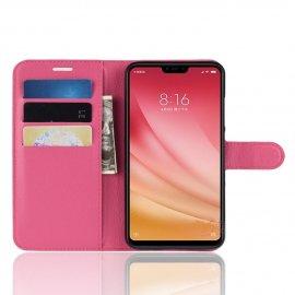 Funda Libro Xiaomi MI 8 Lite Soporte Rosa