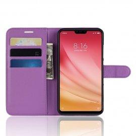 Funda Libro Xiaomi MI 8 Lite Soporte Lila