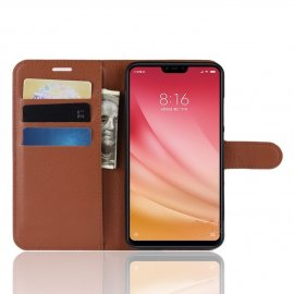 Funda Libro Xiaomi MI 8 Lite Soporte Marron
