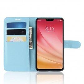 Funda Libro Xiaomi MI 8 Lite Soporte Azul