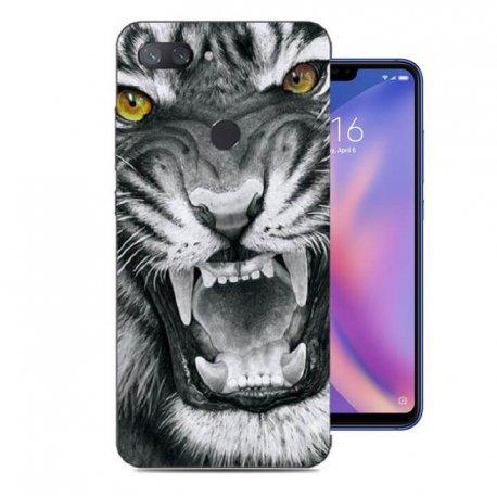 Funda Xiaomi MI 8 Lite Gel Dibujo Tigre