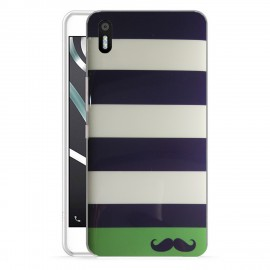 Funda Gel BQ Aquaris X5 Moustache