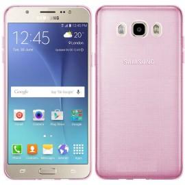 Funda Gel Samsung Galaxy J7 2016 Flexible y lavable Rosa