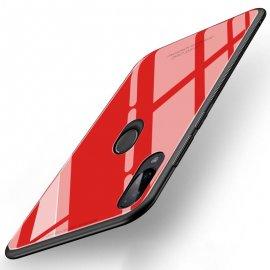 Funda Xiaomi Redmi Note 7 Tpu Trasera Cristal Roja