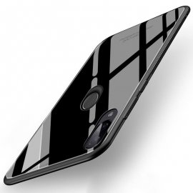 Funda Xiaomi Redmi Note 7 Tpu Trasera Cristal Negra