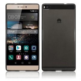 Funda Gel Huawei P8 Flexible y lavable Negra