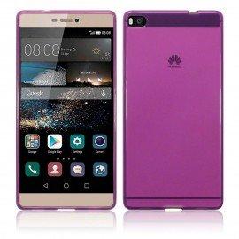 Funda Gel Huawei P8 Flexible y lavable Rosa