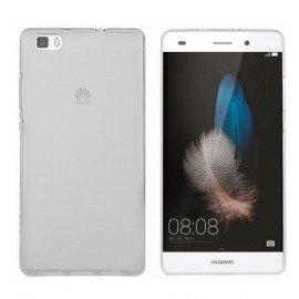 Funda Gel Huawei P8 Lite Flexible y lavable Transparente