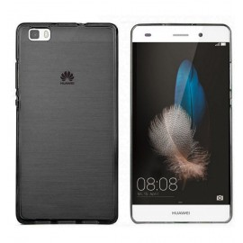 Funda Gel Huawei P8 Lite Flexible y lavable Negra