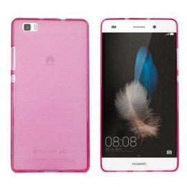 Funda Gel Huawei P8 Lite Flexible y lavable Rosa