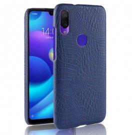 Carcasa Xiaomi Redmi Note 7 Cuero Estilo Croco Azul