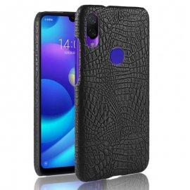 Carcasa Xiaomi Redmi Note 7 Cuero Estilo Croco Negra