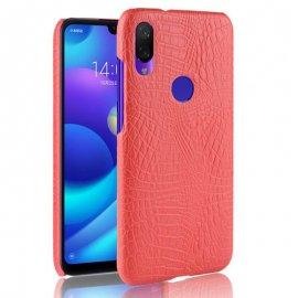 Carcasa Xiaomi Redmi Note 7 Cuero Estilo Croco Roja