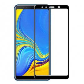 Protector Pantalla Cristal Templado Premium Samsung Galaxy A7 2018 Negro