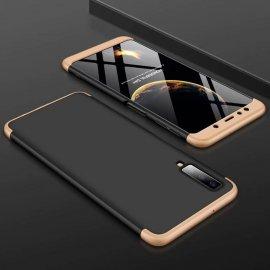 Funda 360 Samsung Galaxy A7 2018 Dorada y Negra