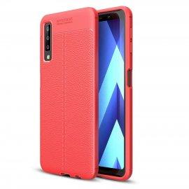 Funda Samsung Galaxy A7 2018 Tpu Cuero 3D Roja