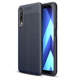 Funda Samsung Galaxy A7 2018 Tpu Cuero 3D Azul