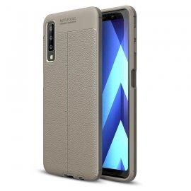 Funda Samsung Galaxy A7 2018 Tpu Cuero 3D Gris