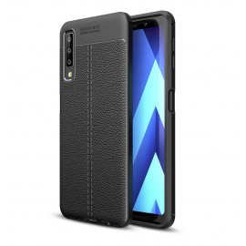 Funda Samsung Galaxy A7 2018 Tpu Cuero 3D Negra