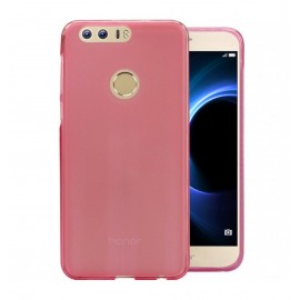 Funda Gel Huawei Honor 8 Flexible y lavable Rosa