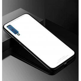 Funda Samsung Galaxy A7 2018Tpu Blanca Trasera Cristal