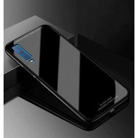 Funda Samsung Galaxy A7 2018 Tpu Negra Trasera Cristal