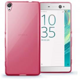 Funda Gel Sony Xperia XA Ultra Flexible y lavable Rosa