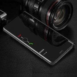 Funda Libro Smart Translucida Samsung Galaxy A7 2018 Negra