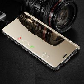 Funda Libro Smart Translucida Samsung Galaxy A7 2018 Dorada