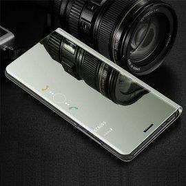 Funda Libro Smart Translucida Samsung Galaxy A7 2018 Plateada