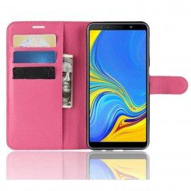 Funda Libro Samsung Galaxy A7 2018 Soporte Fucsia